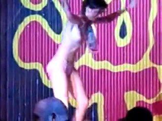 Drunk girl striptease