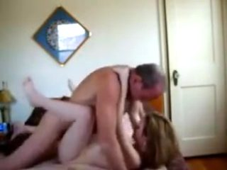 Old perv comes in his slutty college girl whore !