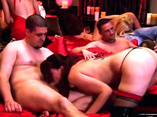 Dirty sluts swapping partners in swinger orgy