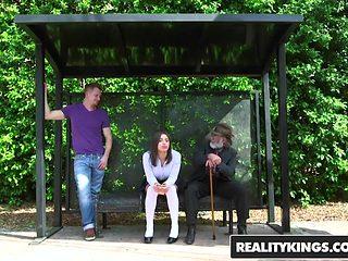 RealityKings - Teens Love Huge Cocks - Abella Danger Bill Bailey - Bus Bench Creepin