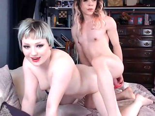 This Tranny Loves Fucking This Tight Pussy