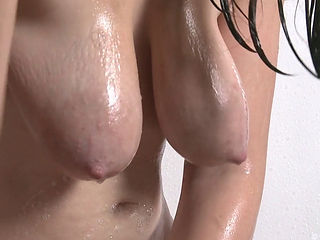 Pretty Emma Naked Washing Hangers In The Shower