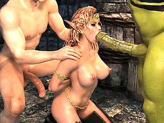 3D Ogre Fucks an Elven Queen- -slideshow-