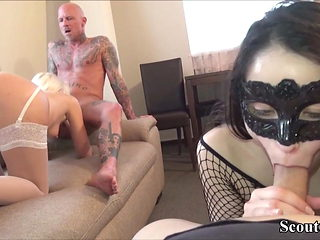 Two German Couples change her Girlfriends to Fuck in Group