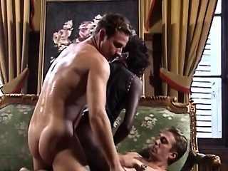 African babe is lured into a hot threesome