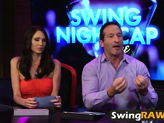 Swinger couples going wild on amazing fuck party