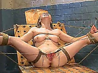 Busty Blonde Hottie Gets Slave Training