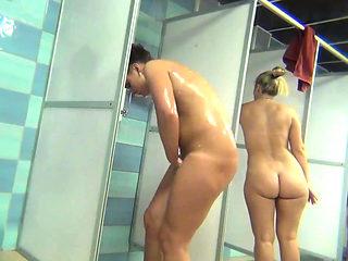 Black teen takes her shower hidden cam