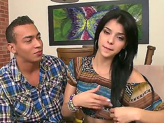 Take a glance at this scene where handsome Latino stud tries to seduce his beautiful and so sexua...
