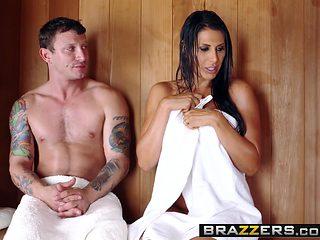 Brazzers - Mommy Got Boobs - Makayla Cox Mr. Pete - Sneaky Sauna Mama