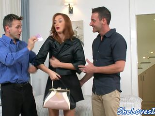 Euro babe threesome fucked doggystyle
