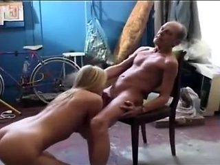 Granddaughter takes advantage of her drunk grandfather