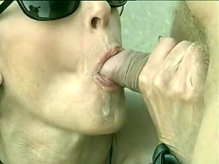 Fucked Outdoors To Drink Up His Cum