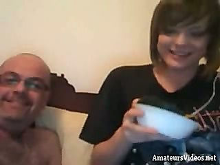Webcam dad and doughter fuck