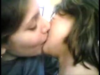 Indian students experiment lesbian kissing in class