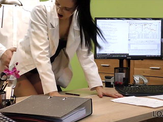 Petite lassie pays with hot sex for wage increase in office