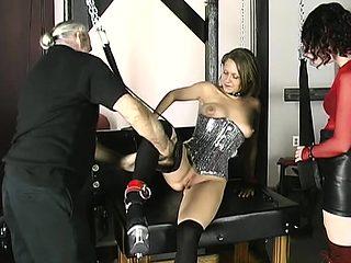 BDSM Threesome Slave Anal Training and Fetish Latex