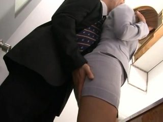 Haruki Sato gets fucked in her husband´s office