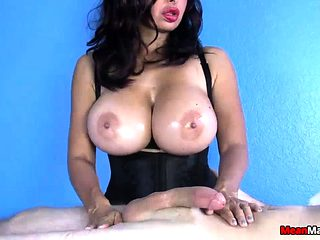 Big-titted Babe Gives Him A Full Body Treatment