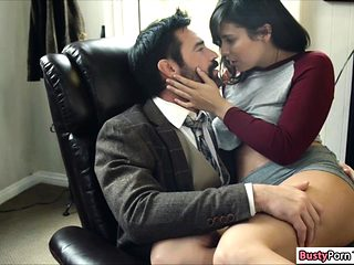 Hot college student fucked by professor