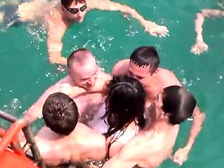 French Amateur Teen in Group Sex