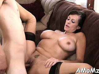 Talented dude bonks enchanting mature sweetie rough and hard