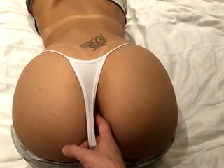 ass in white panties
