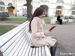 She Is Nerdy - Margarita C Peachy - Reading and fucking together