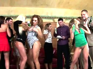 Kinky sex party with sweethearts getting fucked like crazy