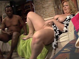 Bigtitted Plumper Fucked In Interracial Duo