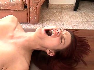 beautiful redhead first crying anal sex nightmare.