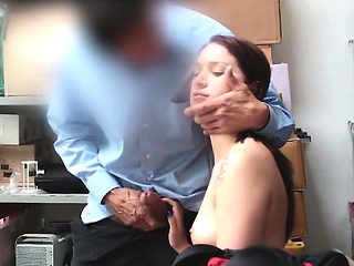 Naomi gets fucked in an office after getting caught stealing