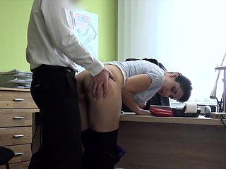 LOAN4K. Dirty anal sex on purpose helps busty brunette...