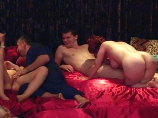 Hot couples fucks hard on the swinger party