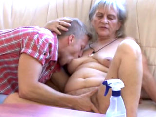 Mature Granny Getting Fucked On The Sofa