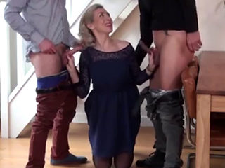 French Mature Granny Threesome