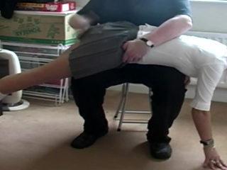 Pretty English Woman in School Uniform Spanking