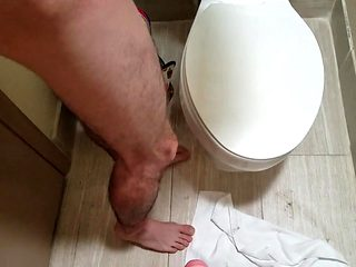 Wife fucks husband in hotel first time anal huge dildo