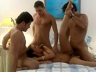 Amazing animated jerking cocks in group sex
