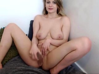 Beautiful Isla with natural pierced tits and British accent