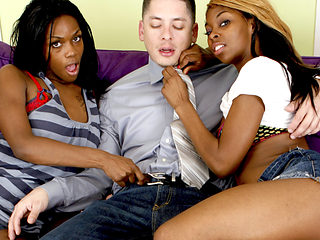 Jayden & Alex & Remy in Hardcore Ebony Threesome With Jayden Hart & Remy Hart - BestGonzo