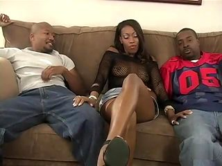 Fabulous pornstar Ashley Fox in hottest black and ebony, threesomes xxx scene