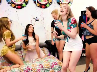 College babes party sex after graduation