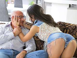 OLD4K. Handsome daddy able to please all needs of beautiful