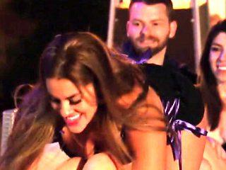 Brunette swinger babe is making her partner's dong rock hard