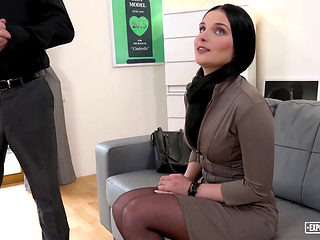Exposed Casting - Sexy Slovak Brunette Lucia Denville Takes Big Cock In Naughty Audition