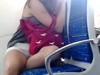 Encoxando Shoulder college girl Bus
