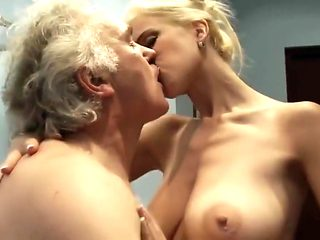 Slut mom fucks with old man for money