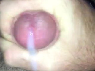 Stroking my cock in bed next to sleeping wife till cum
