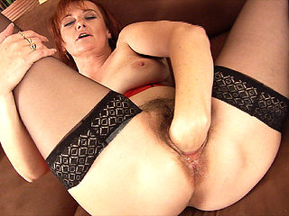 stepmom fist her hairy pussy